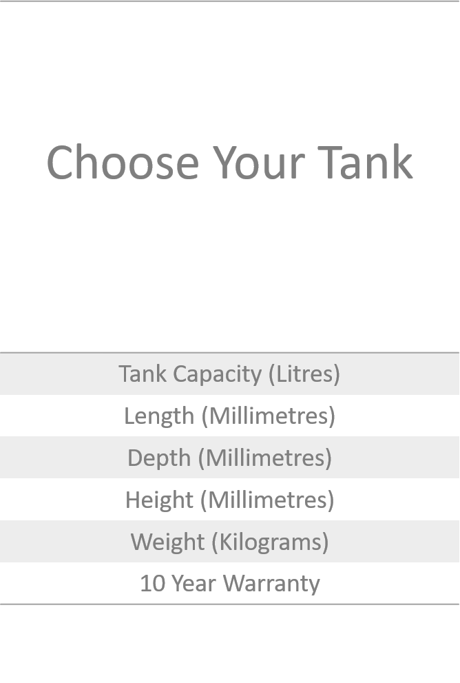 Choose your tank